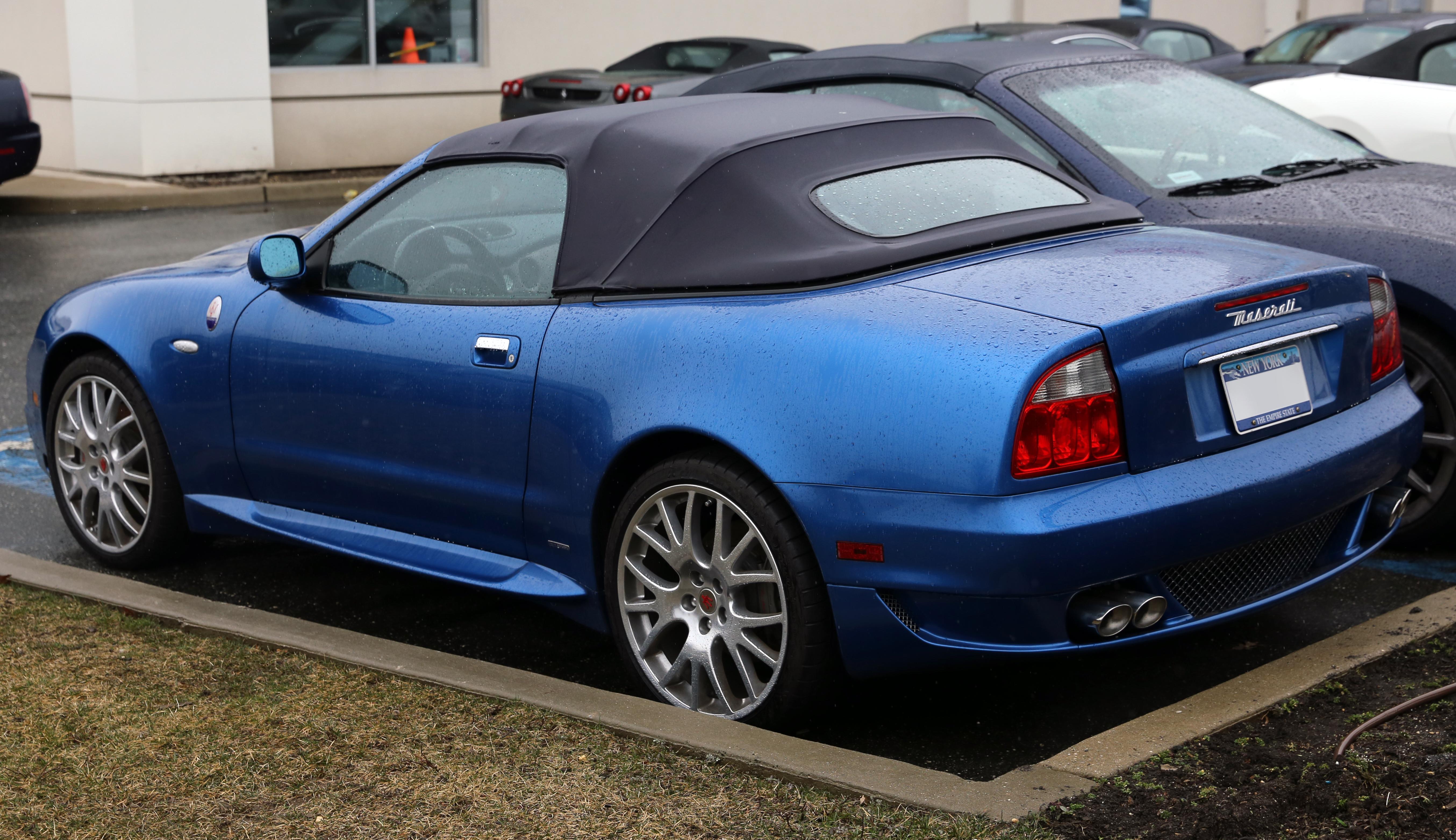File:2005 Maserati Spyder 90th Anniversary, rear left.jpg ...