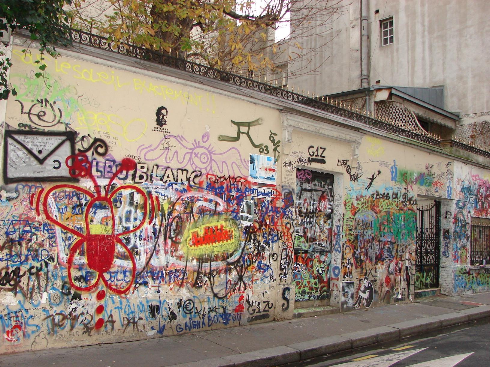 Casa de Serge Gainsbourg en la rue de Verneuil en Saint-Germain-des-Prés conservada en el mismo estado por Charlotte Gainsbourg tras la muerte de su padre.()