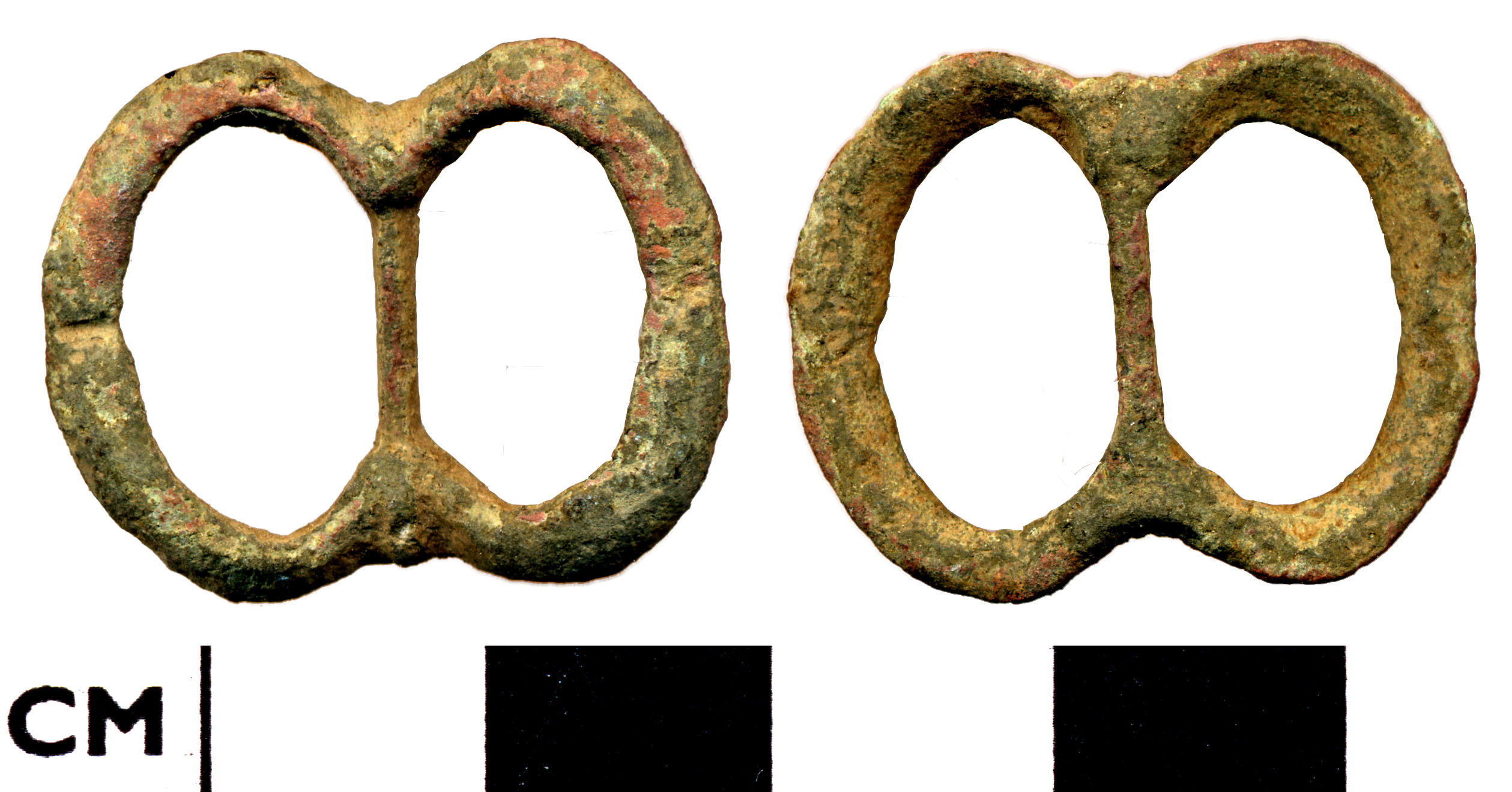 File:7BACC6. Post-Medieval oval double looped buckle frame (FindID ...