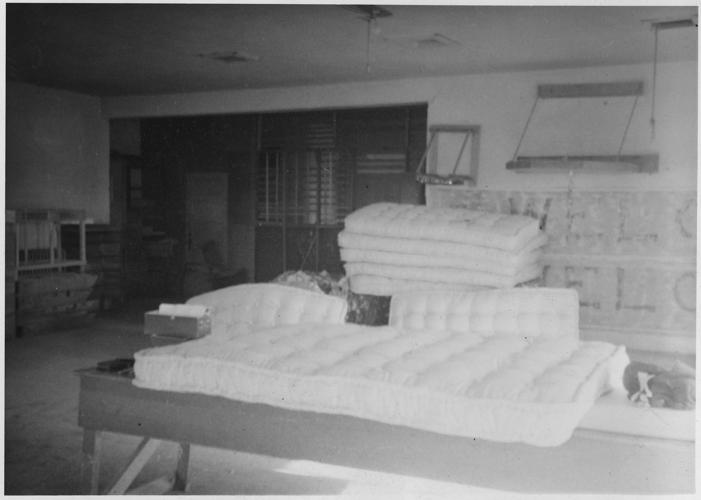 stack of mattresses. File:A Stack Of Homemade Mattresses - NARA 285235.jpg
