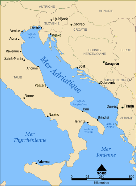 Carte France Italie Croatie.Mer Adriatique Wikipedia