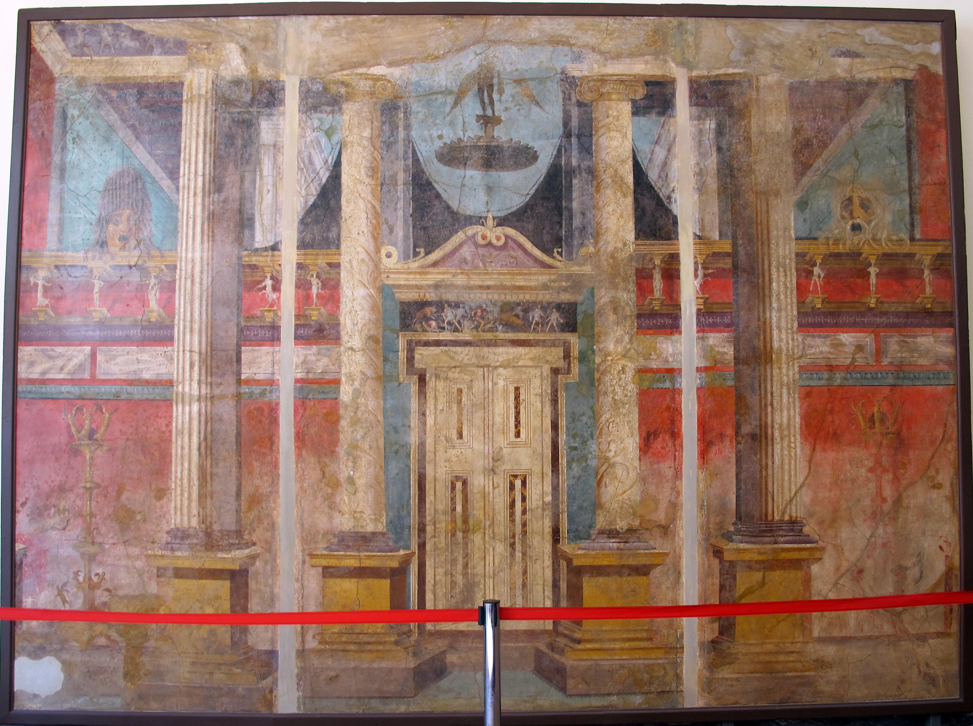 File affreschi con finte architetture da villa di for Case in affitto arredato boscoreale