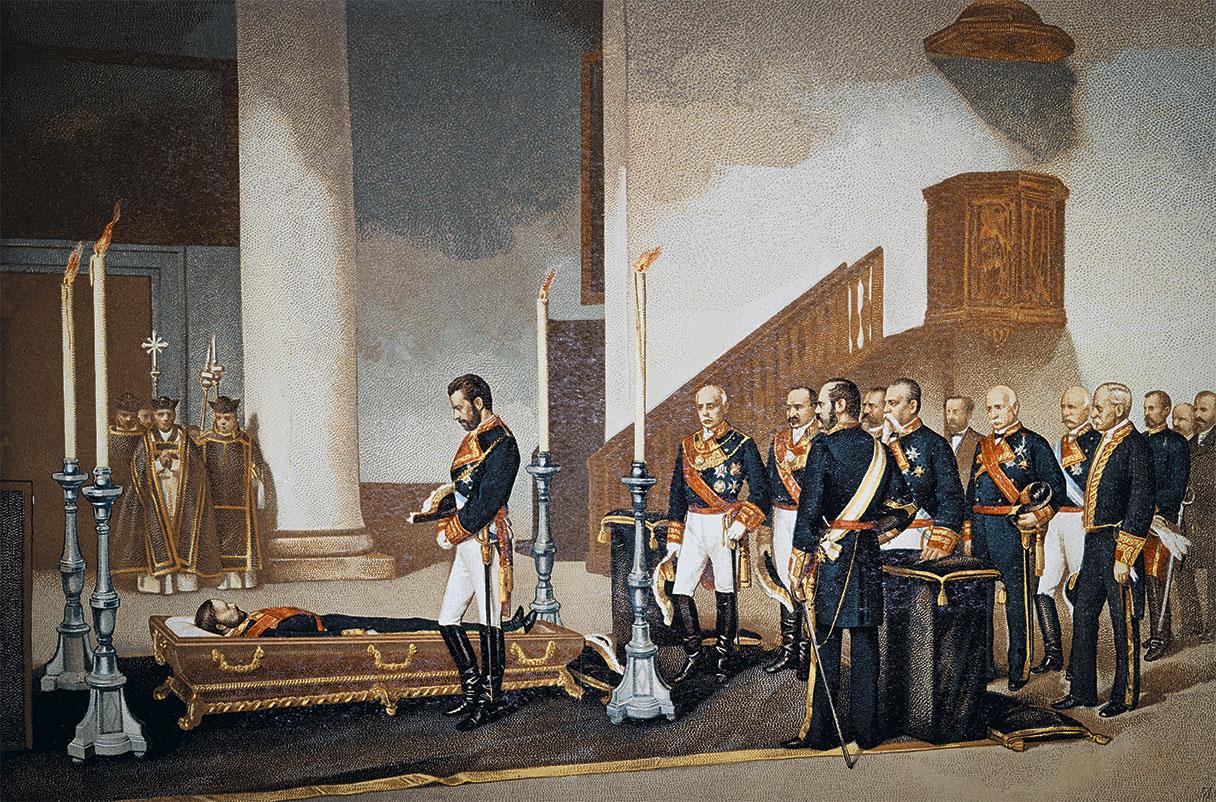 File:Amadeo I frente al féretro del general Prim de Antonio Gisbert 1870.jpg