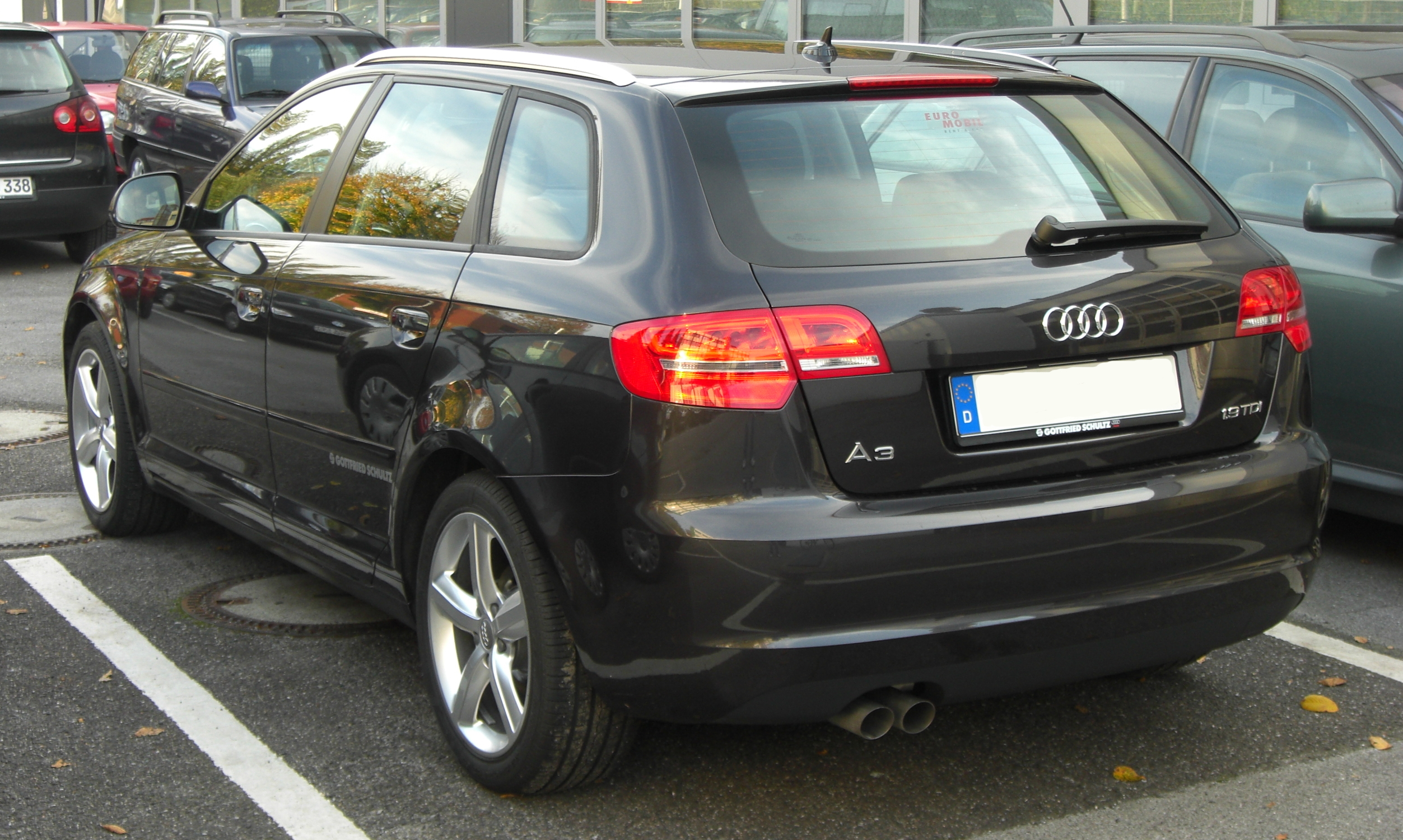 file audi a3 sportback 1 9 tdi ii facelift rear jpg wikimedia commons. Black Bedroom Furniture Sets. Home Design Ideas