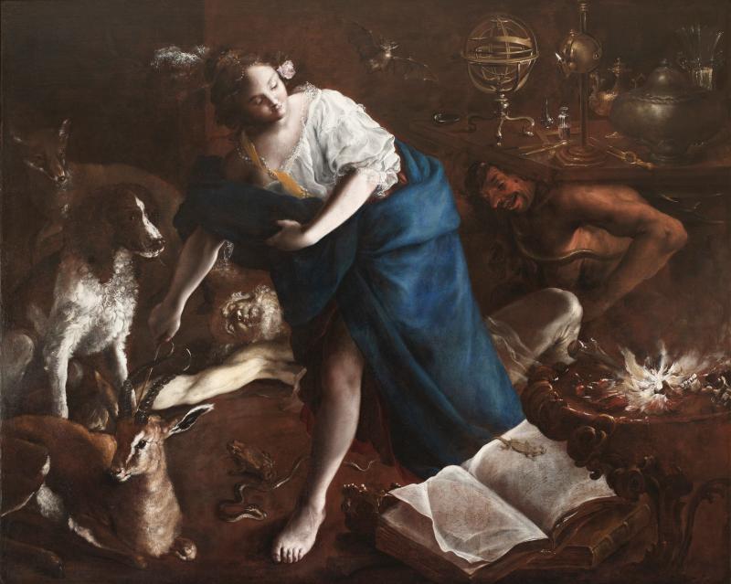 Bartolomeo Guidobono (1654–1709) [ Medéia rejuvenesce Aison ] (1700) [ Coleção privada ]