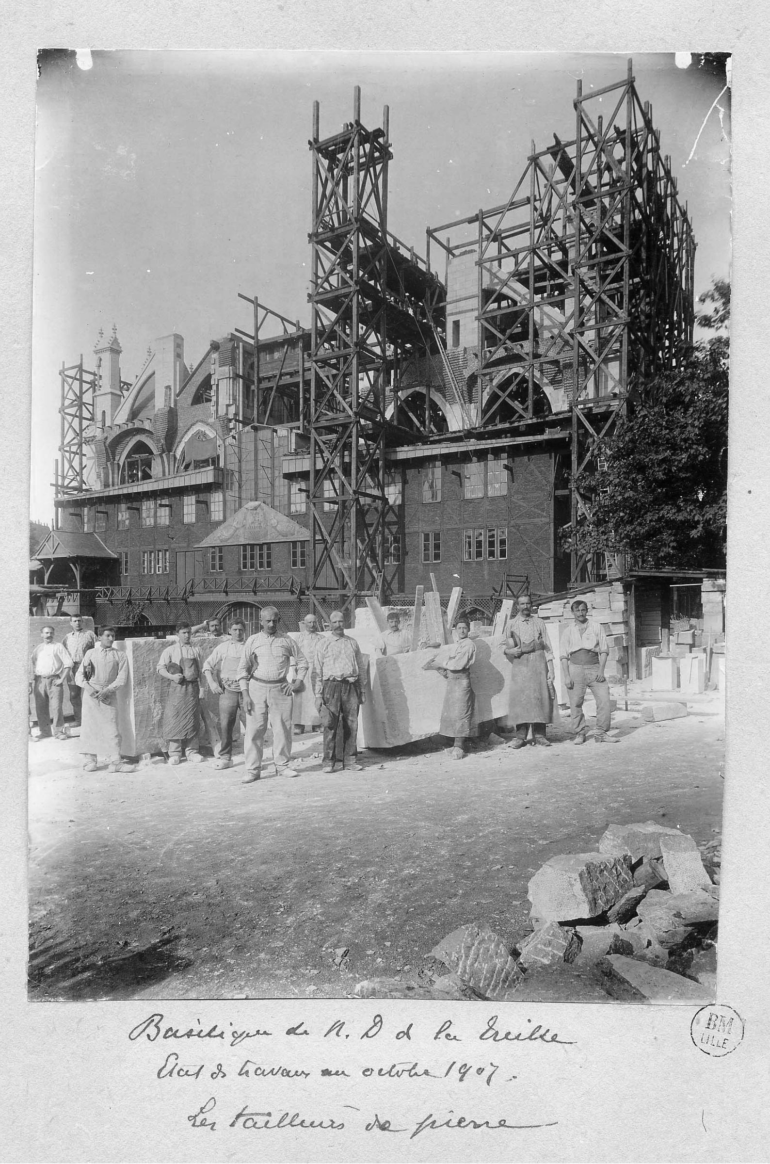 Fichier Basilique Notre Dame De La Treille 1907 Jpg Wikipedia