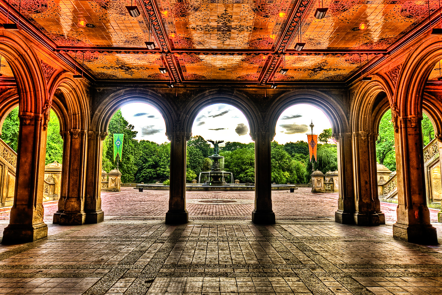 File bethesda fountain and the terrace central park nyc for In the terrace