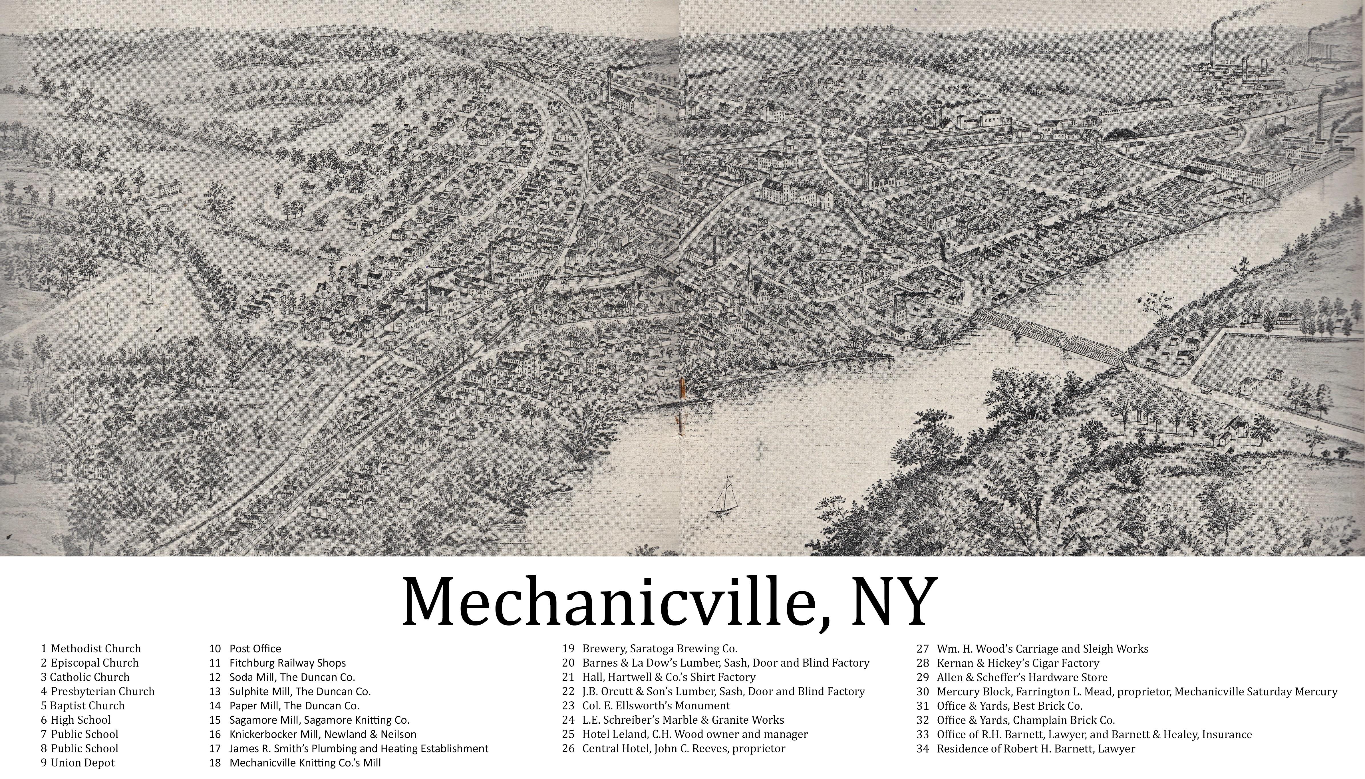 File:Birdseye View of Mechanicville - 1898 jpg - Wikipedia
