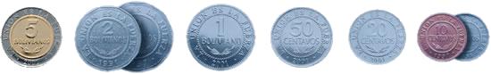 Bolivano and Centavo coins