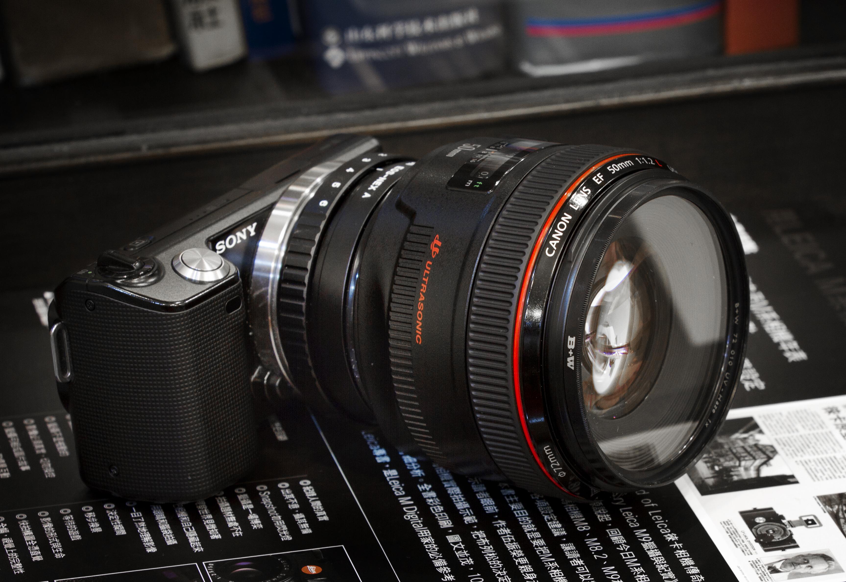 File:Canon 50mm f1.2 L on Nex-5c.jpg - Wikimedia Commons