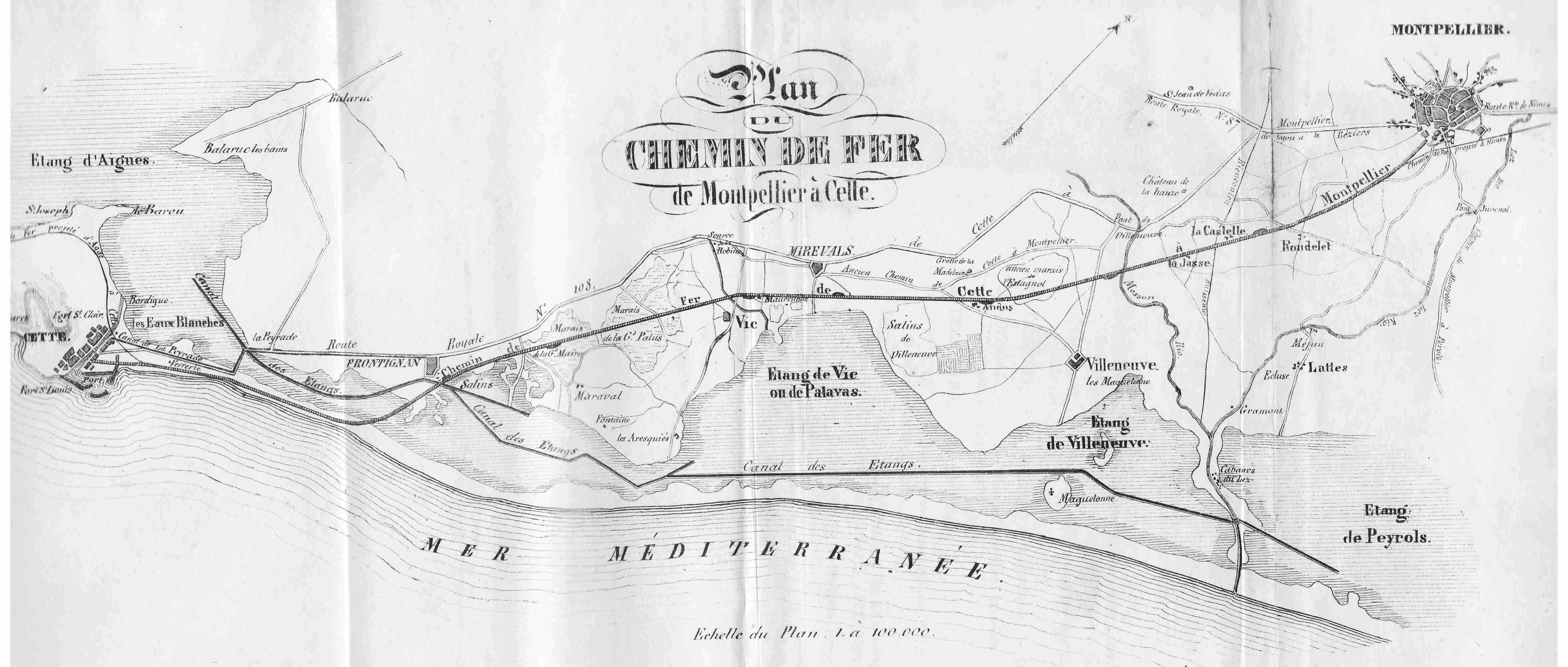 carte chemin de fer File:Carte du chemin de fer Montpellier Cette.   Wikimedia Commons