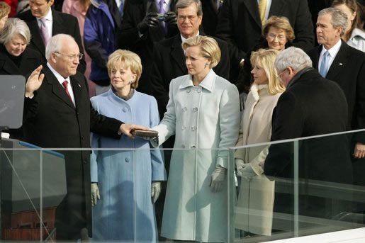 Cheney and family at 2nd inaugural