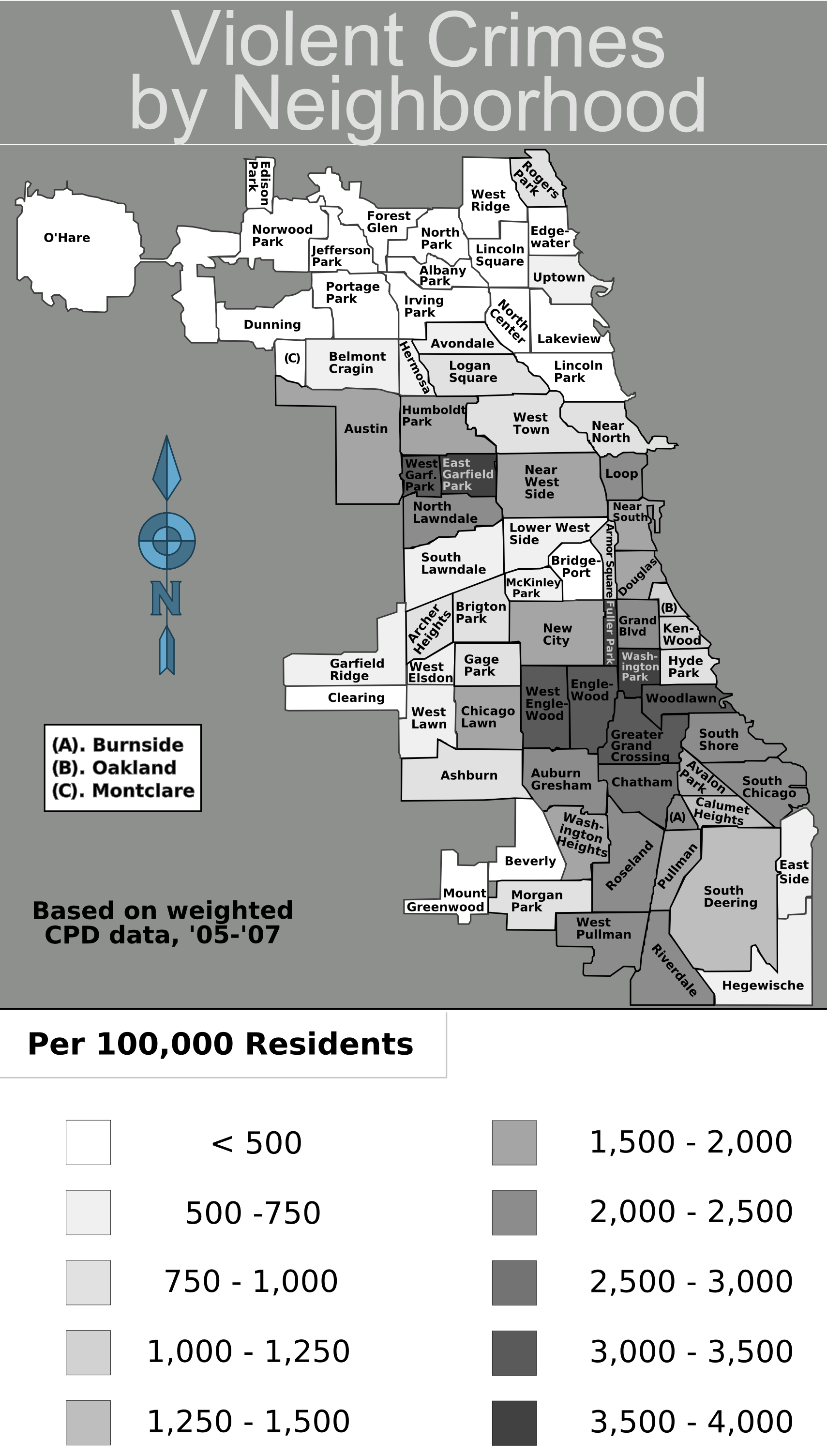 File:Chicago weighted crime map 05-07 print.png - Wikimedia Commons