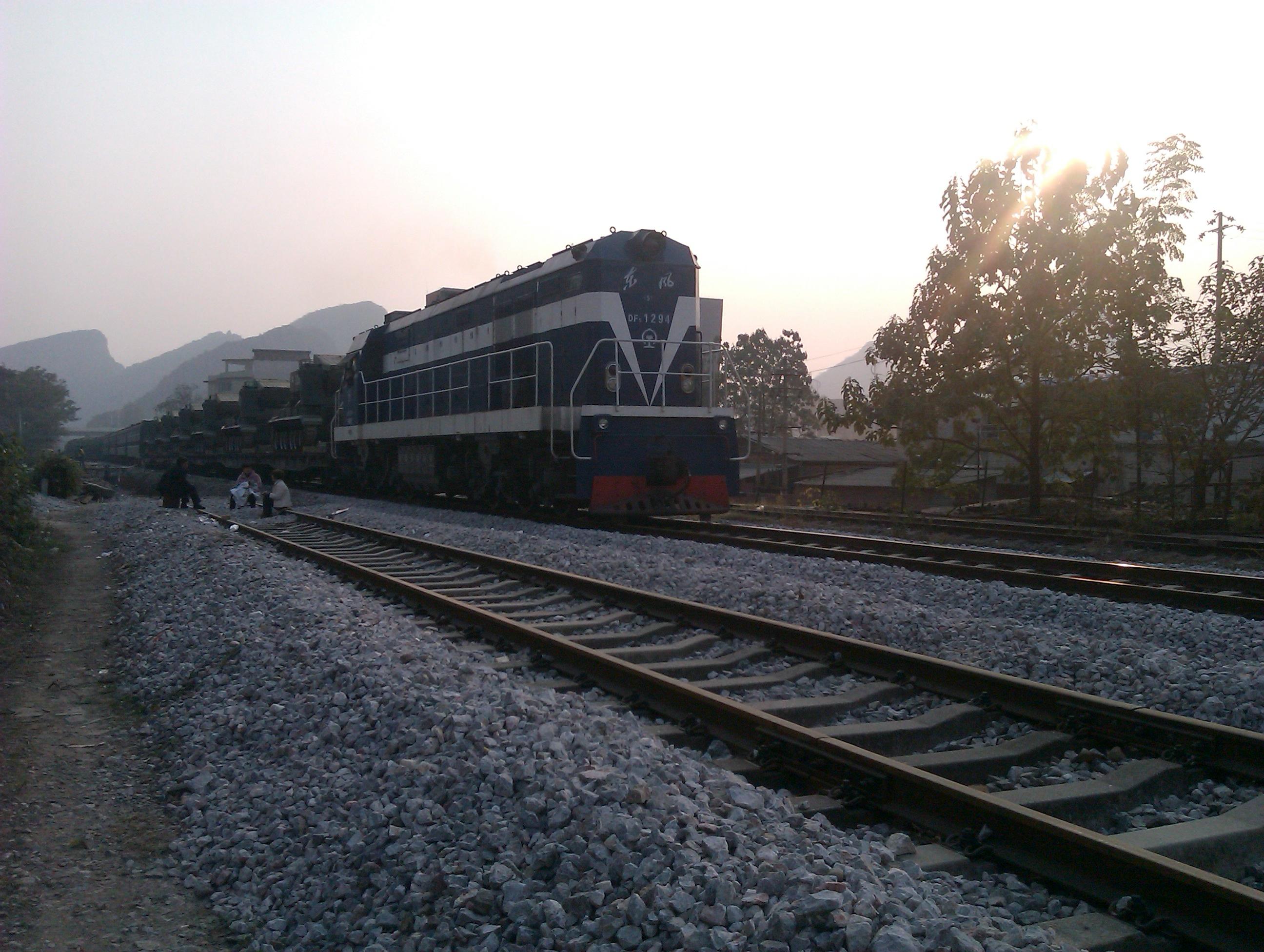 a Military Train Near Guilin