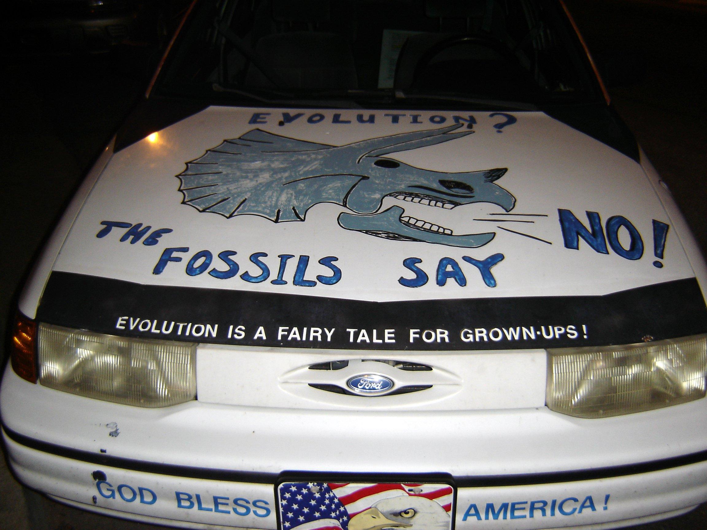 Typical republican American car! Creationist_car