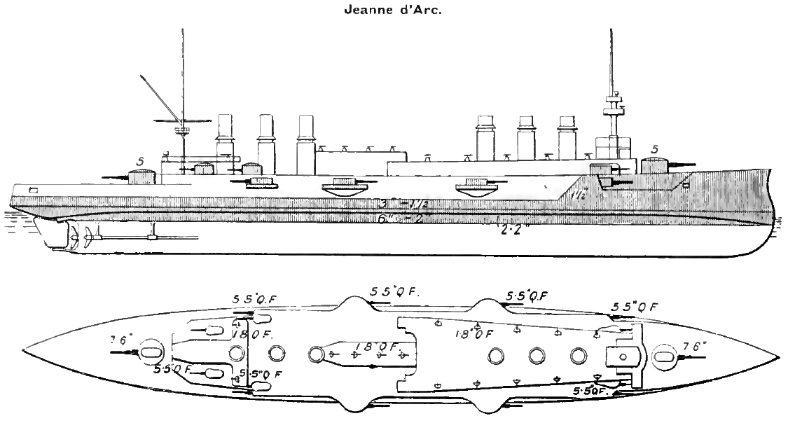 French cruiser Jeanne d'Arc