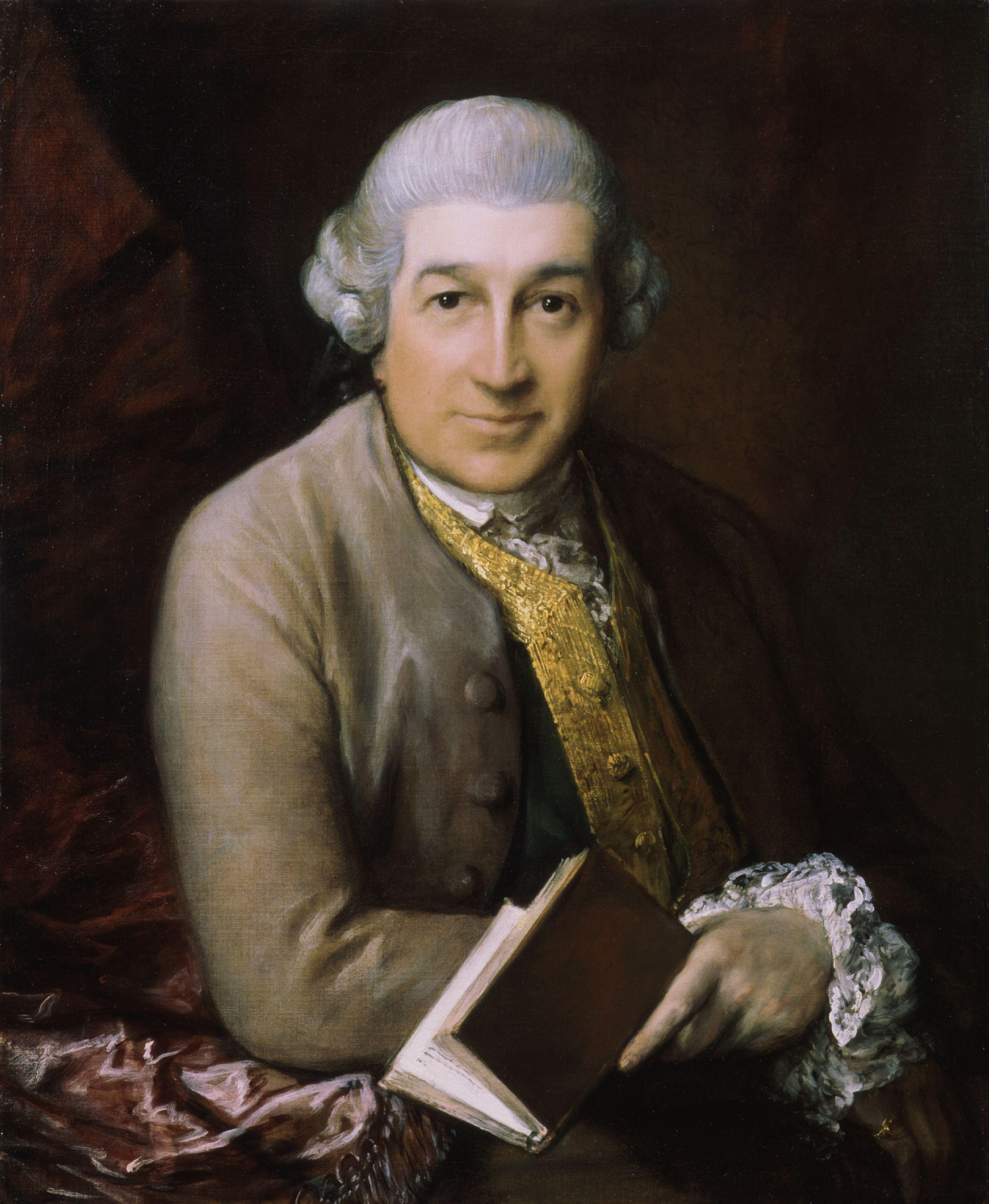 Portrait of Garrick by [[Thomas Gainsborough