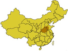 Location of the Xia dynasty state