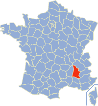 Communes of the Drôme department Wikimedia list article