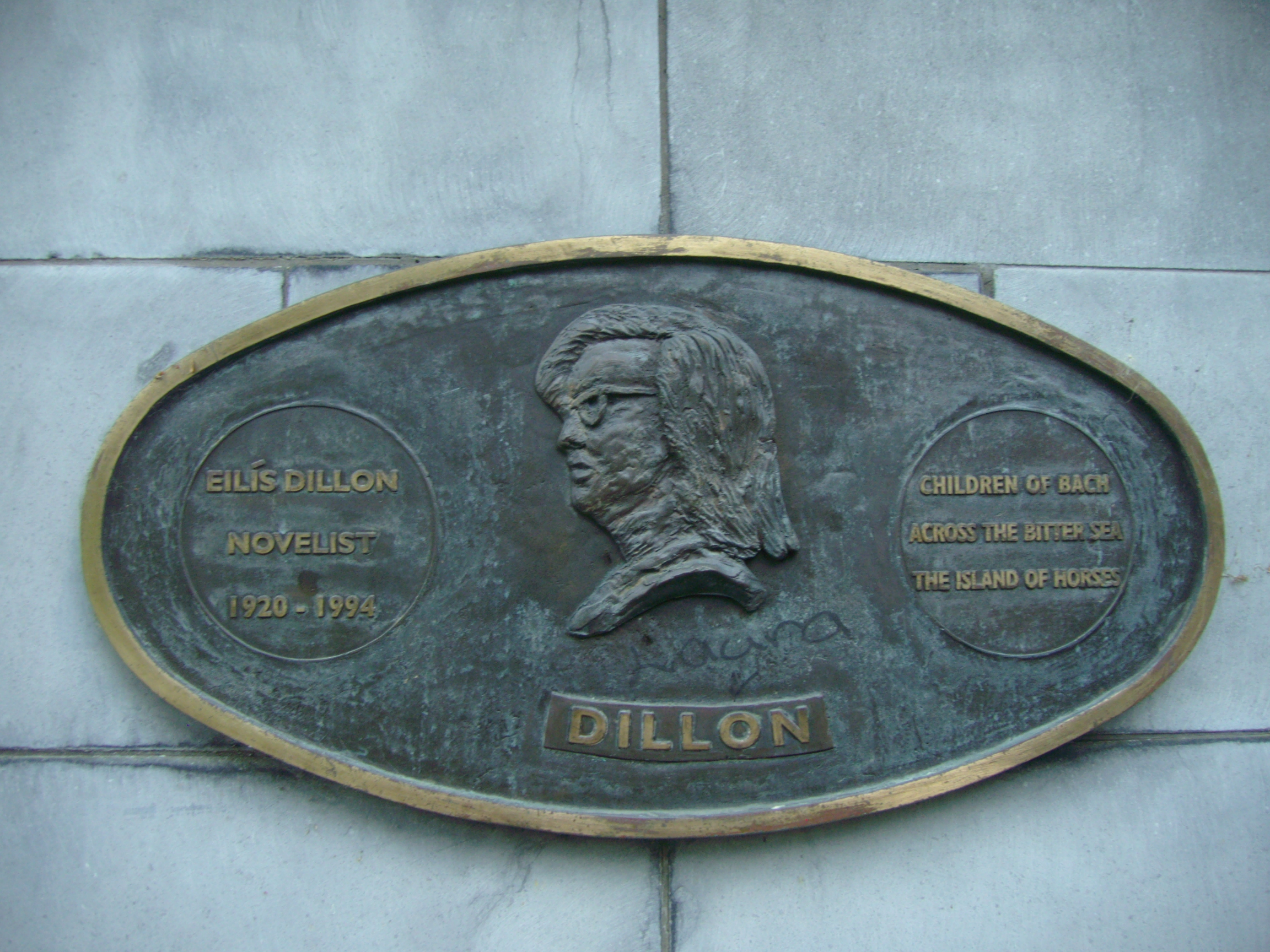 Plaque in Saint Patrick's Park, Dublin