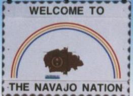 Sign Entering Navajo Indian Reservation