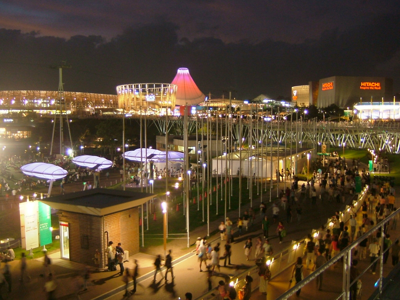 Aichi Japan  City new picture : Expo 2005 Aichi Japan Nagakute Hall of Night view 01