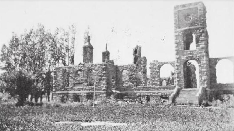 File Fire Destroyed Ursuline Convent St Peters Mission
