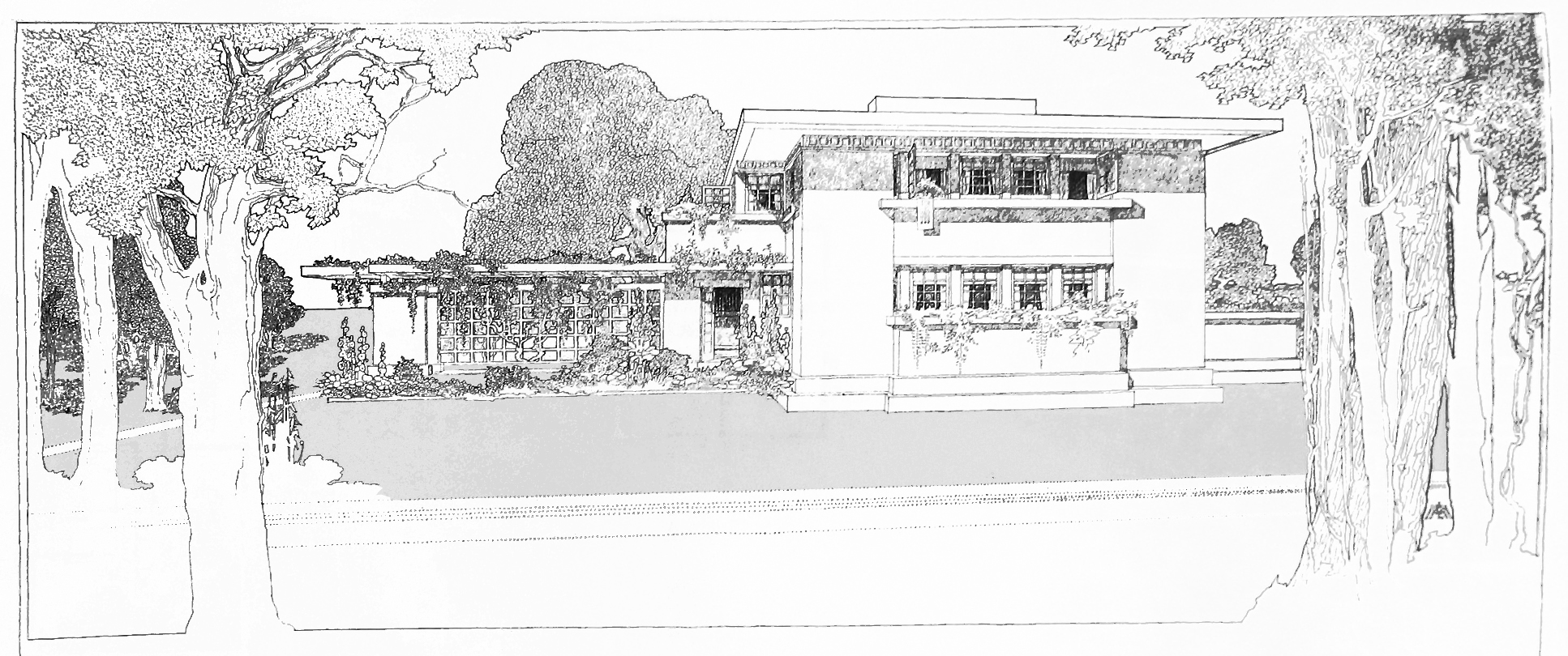 Frank Lloyd Wright Style House Plans File Fireproof House 2 Jpg Wikipedia