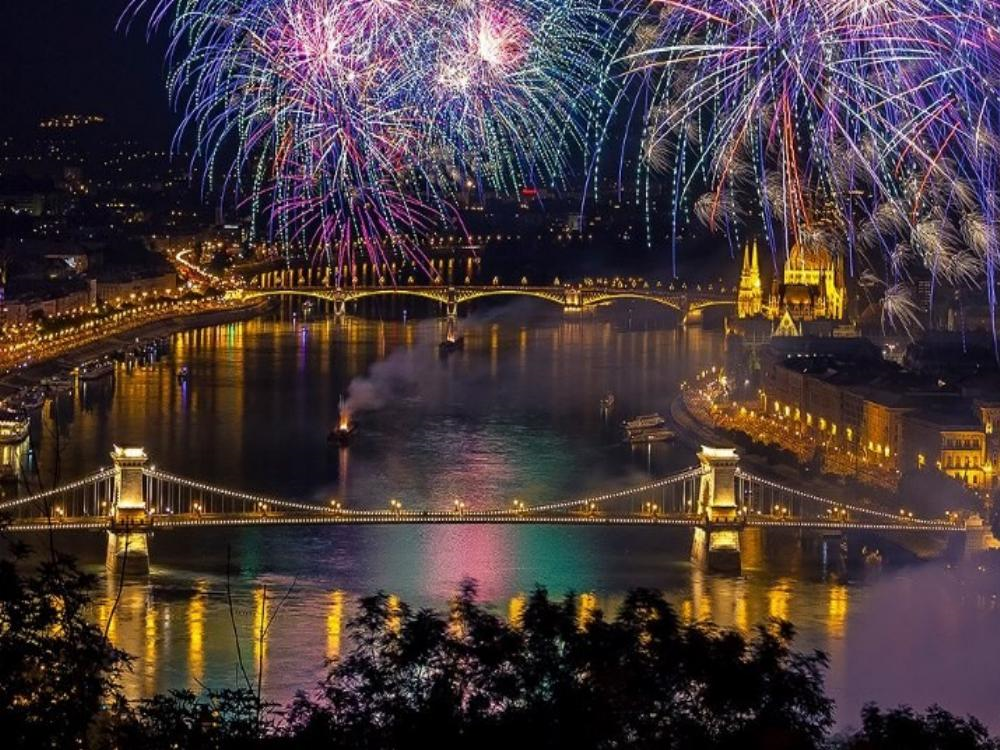 Picture of Fireworks on 2nd Day of Christmas--St. Stephen's Day in Hungary