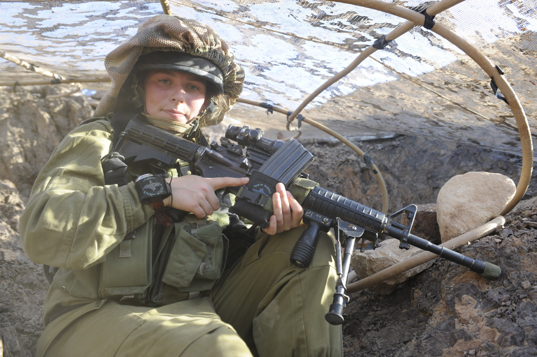 File:Flickr - Israel Defense Forces - The Life of Female ... M16 Acog