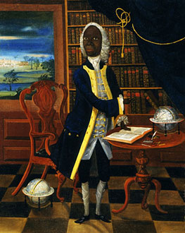 Portrait of Francis Williams, a Jamaican writer and teacher. Painted around 1740. Artist unknown.