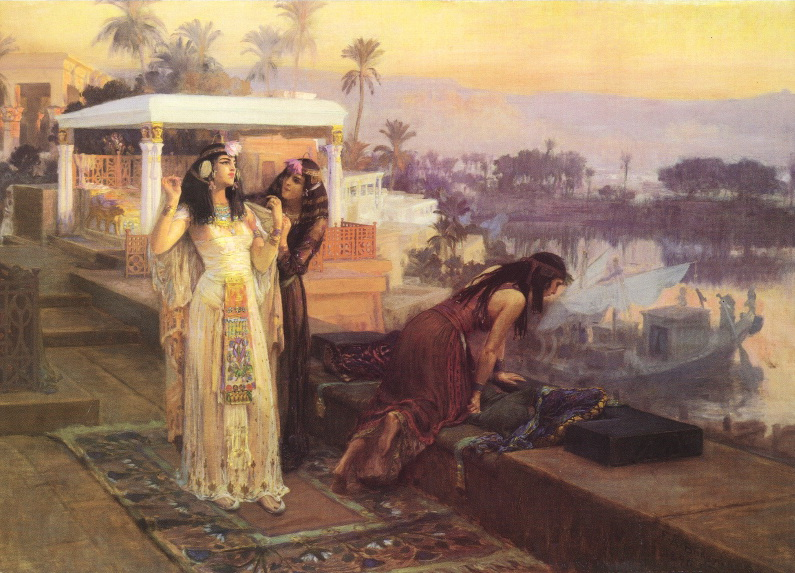 Fișier:Frederick Arthur Bridgman - Cleopatra on the Terraces of Philae.JPG
