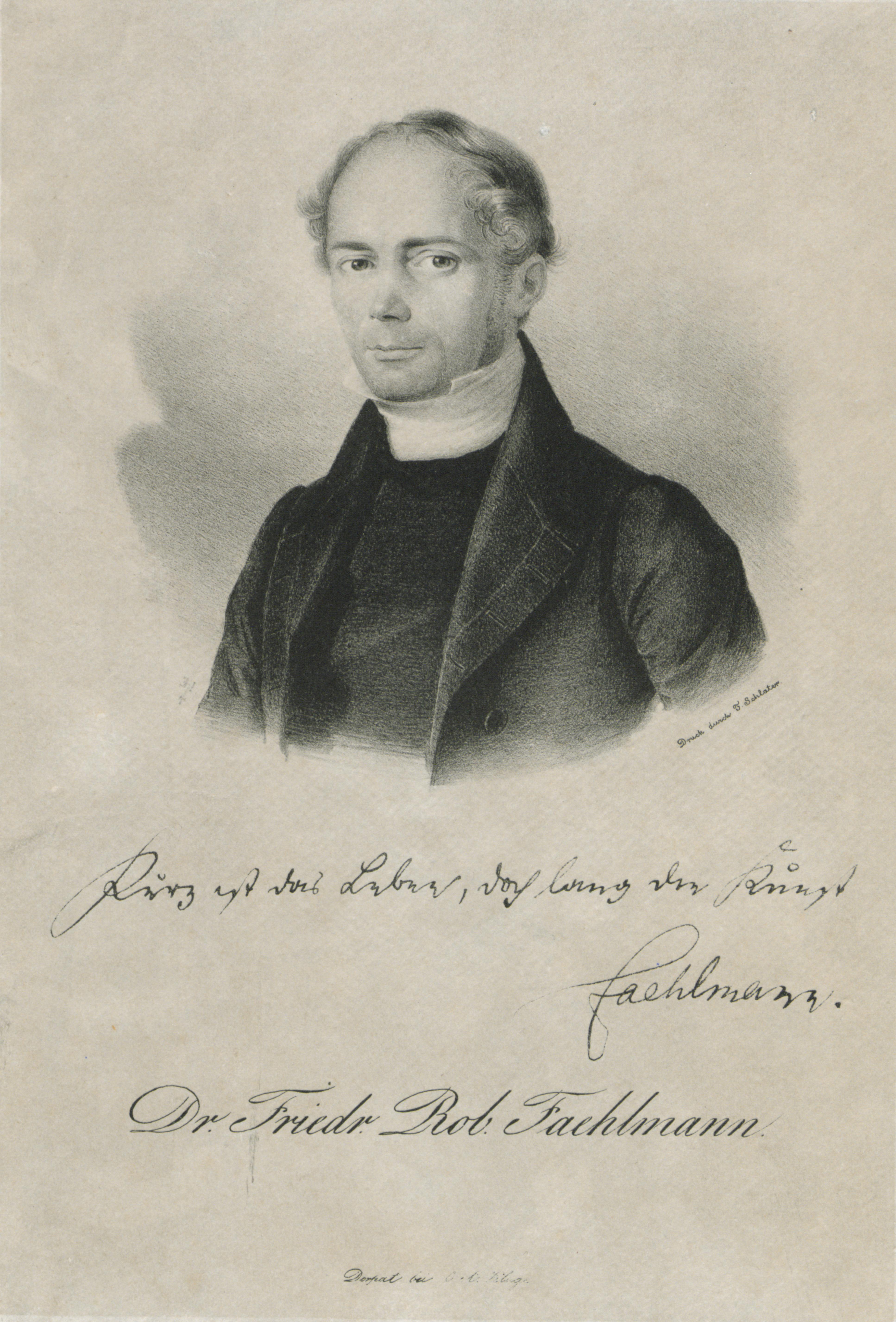Friedrich R. Faehlmann. Lithograph by [[Eduard Hau