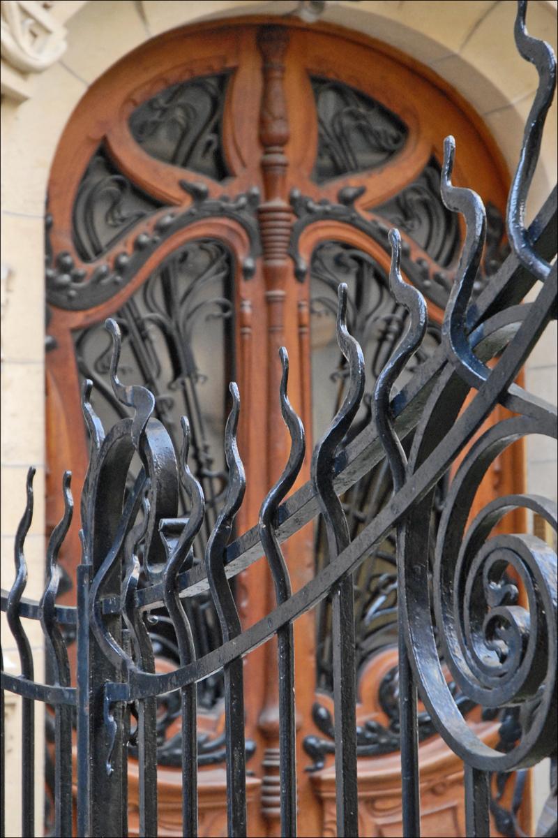 FileGrille Et Porte Dentrée Art Nouveau Jules Lavirotte - Grille porte