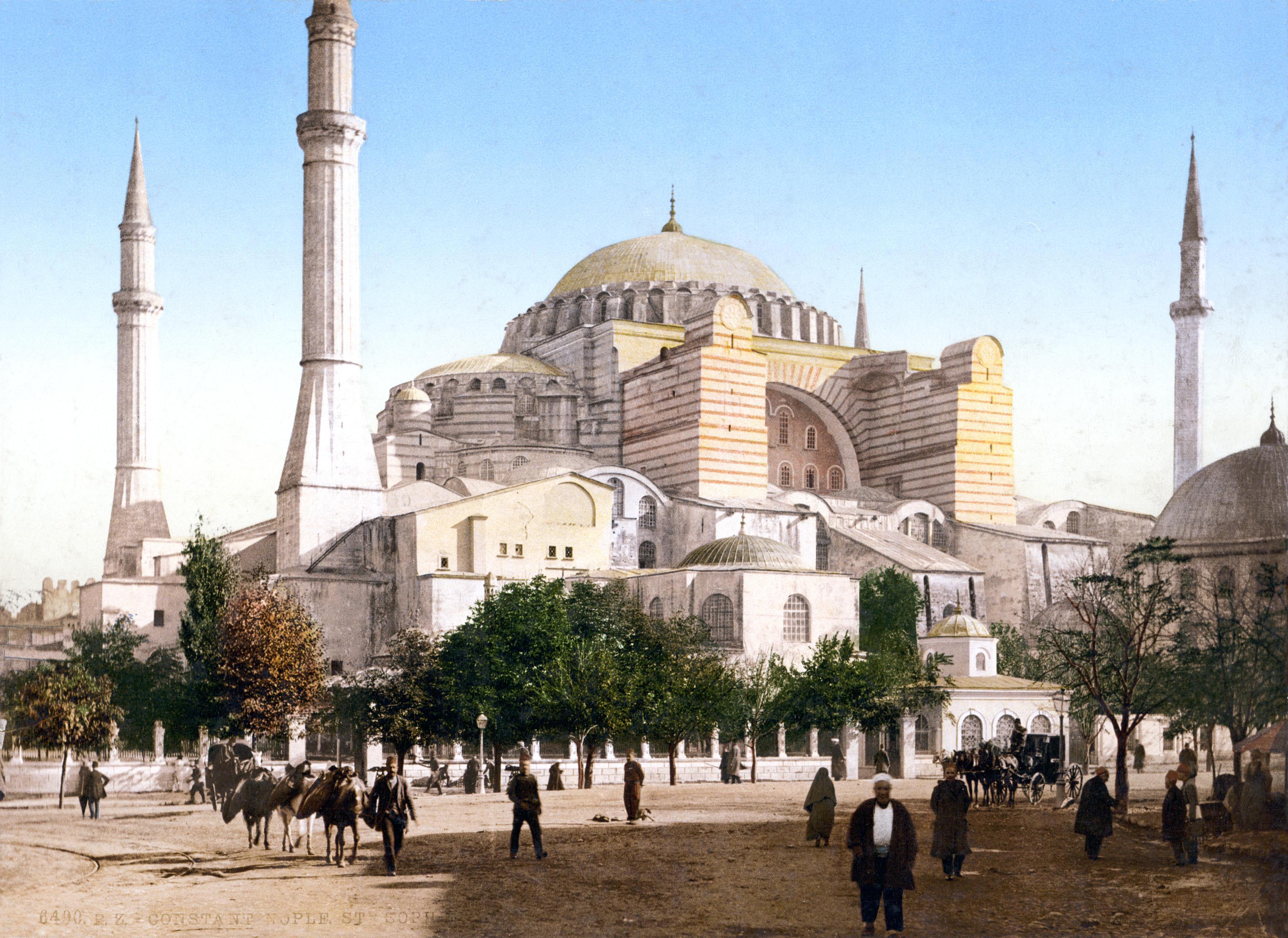 Najlepše svetske građevine - Page 2 Hagia_Sophia,_Constantinople,_Turkey,_ca._1897