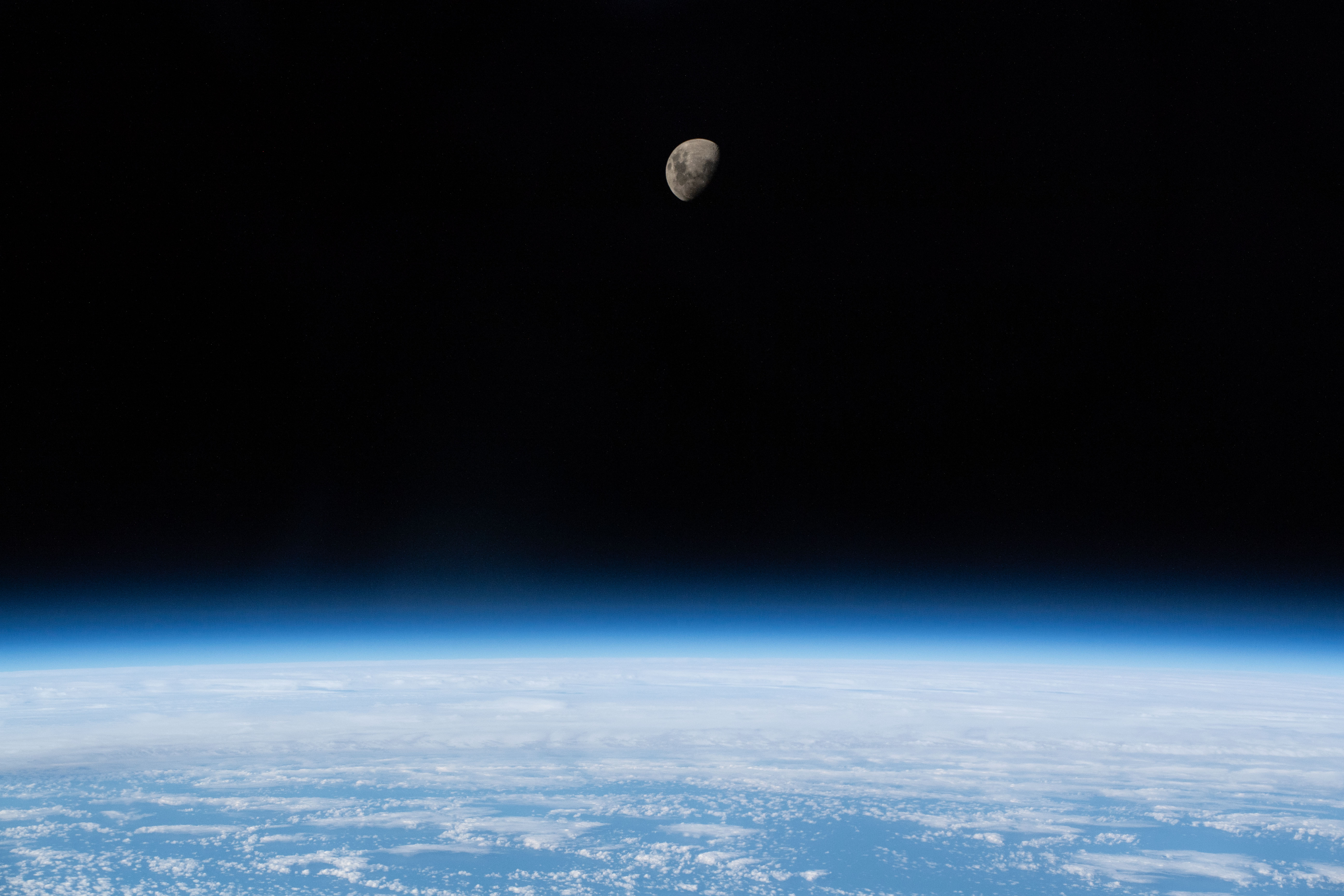 File:ISS-59 Waxing Gibbous Moon above the South Atlantic Ocean (2).jpg - Wikimedia Commons