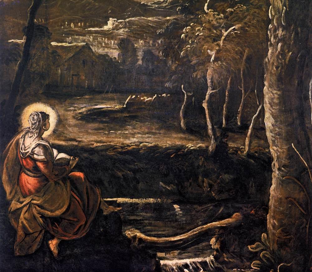 Jacopo Tintoretto: St. Maria av Egypt (1582-87), Scuola di San Rocco i Venezia