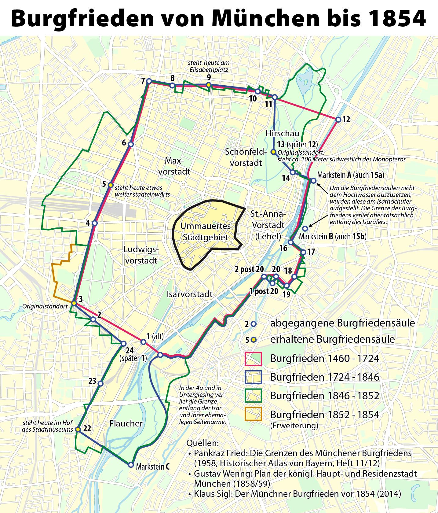 München Karte Bayern.Münchner Burgfrieden Wikipedia