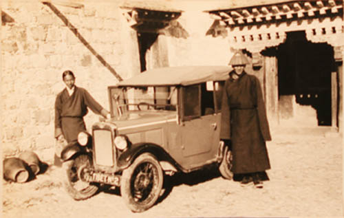 Kunphela and Tashi Dhondup with Baby Austin at Dekyi-Lingka (the British Residence) in 1933 Lhasa Kunphela and Tashi Dhondup with Baby Austin at Dekyi-lingka 19.9.33.jpg