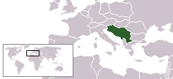 Location of Yugoslavia