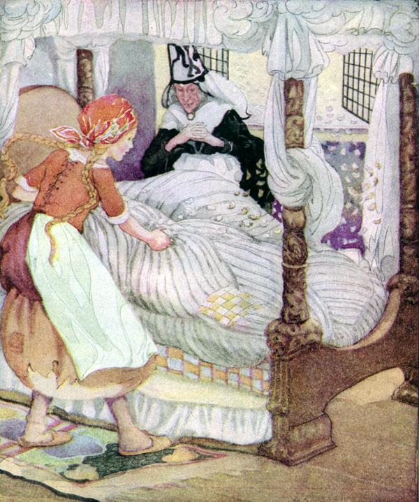 "Mother Holle (Mother Hulda) - ""Матушка Метелица"", сказка братьев Гримм на английском языке"