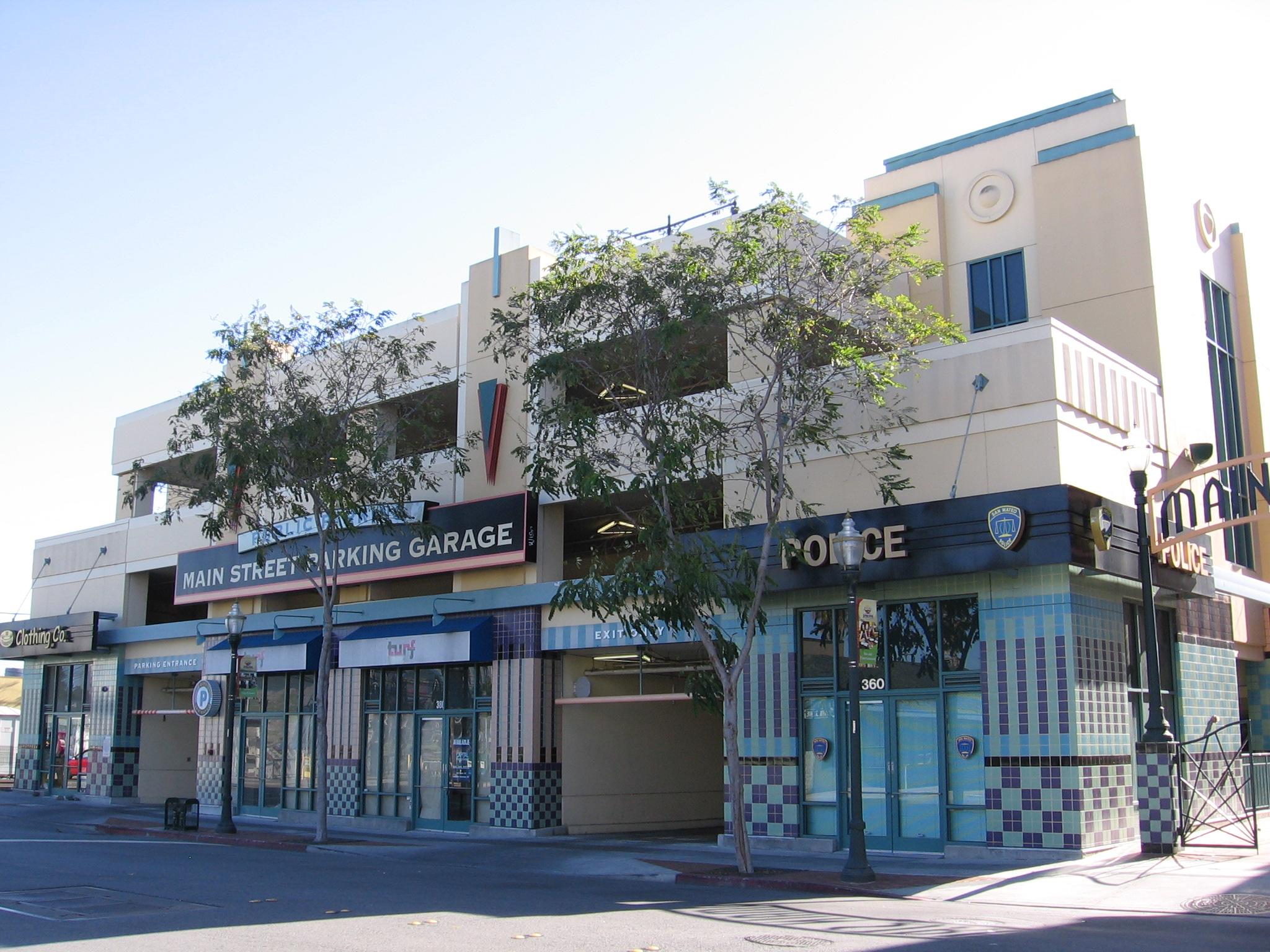 File Main Street Parking Garage Sm 3123 02 Jpg Wikimedia Commons