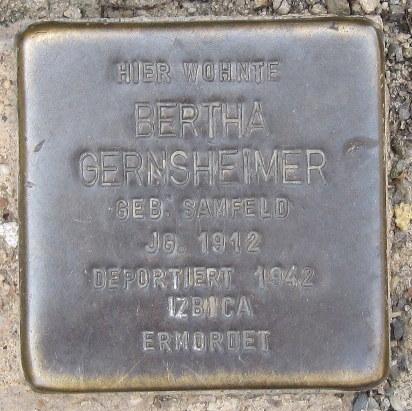 Mainbernheim Stolperstein Gernsheimer, Bertha.jpg