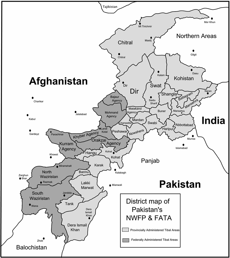 FileMap Showing NWFP And FATApng Wikimedia Commons - Charikar map