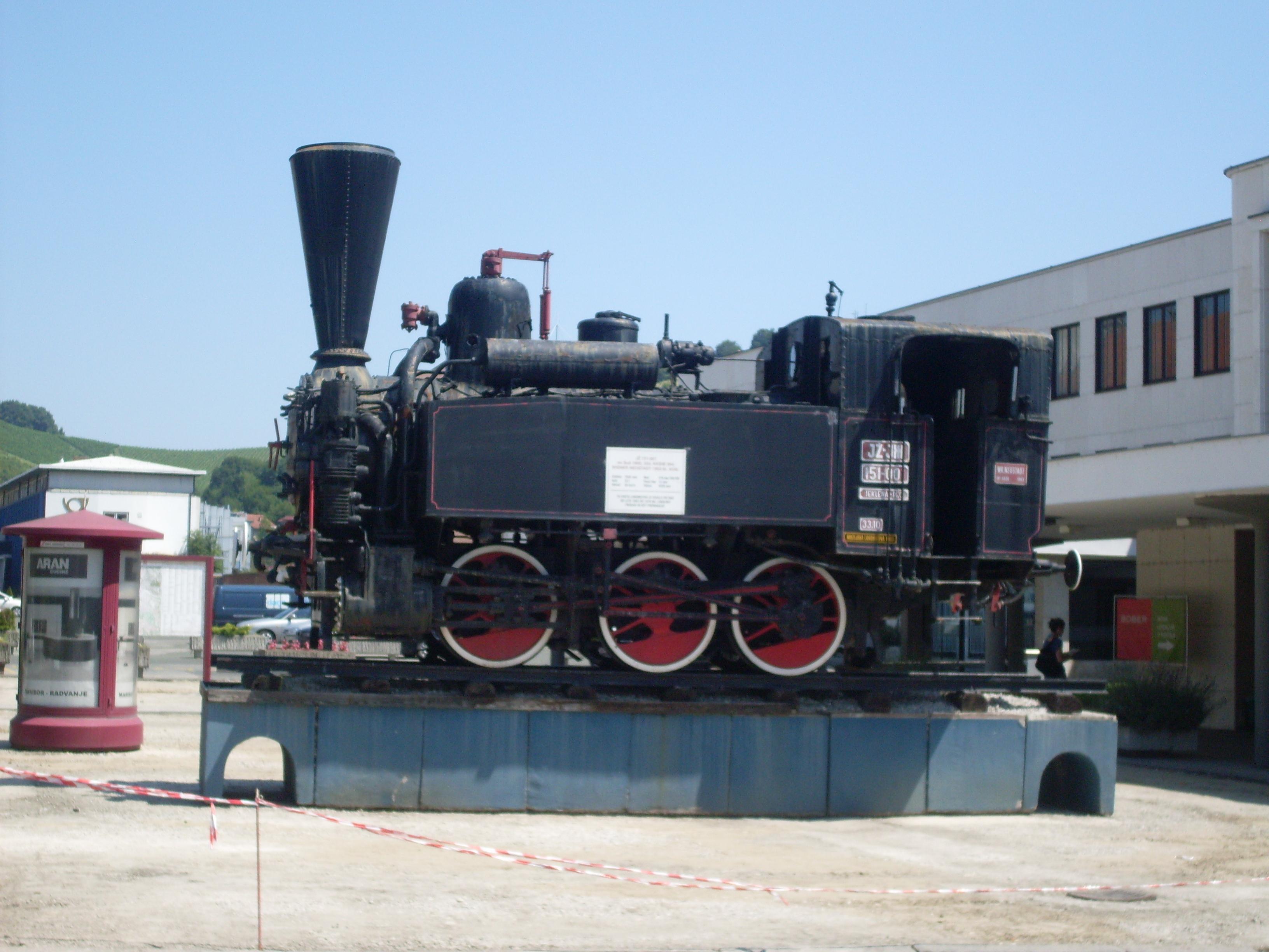 Steam Train Engine Side ViewSteam Train Side View