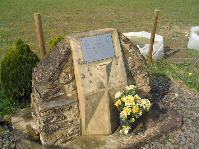Memorial at entrance to Lyveden Airfield - geograph.org.uk - 378090