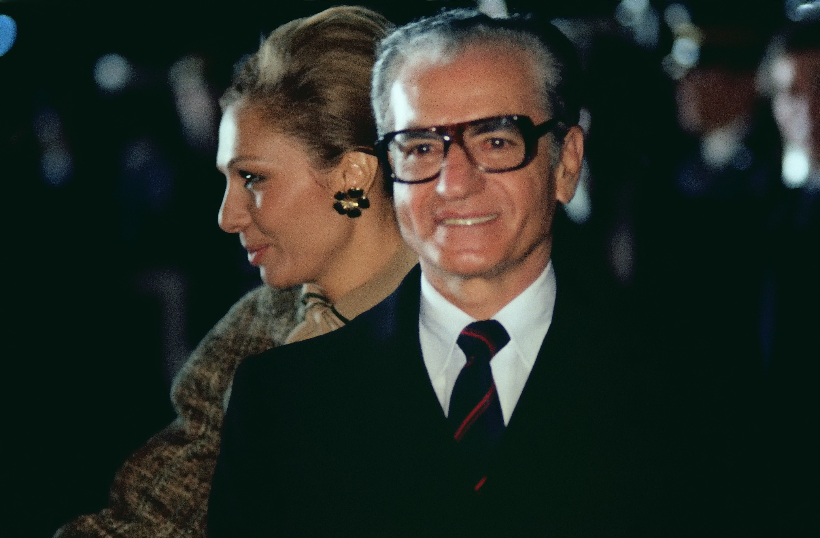 Schah Mohammad Reza Pahlavi und Schahbanu Farah Pahlavi, 1977
