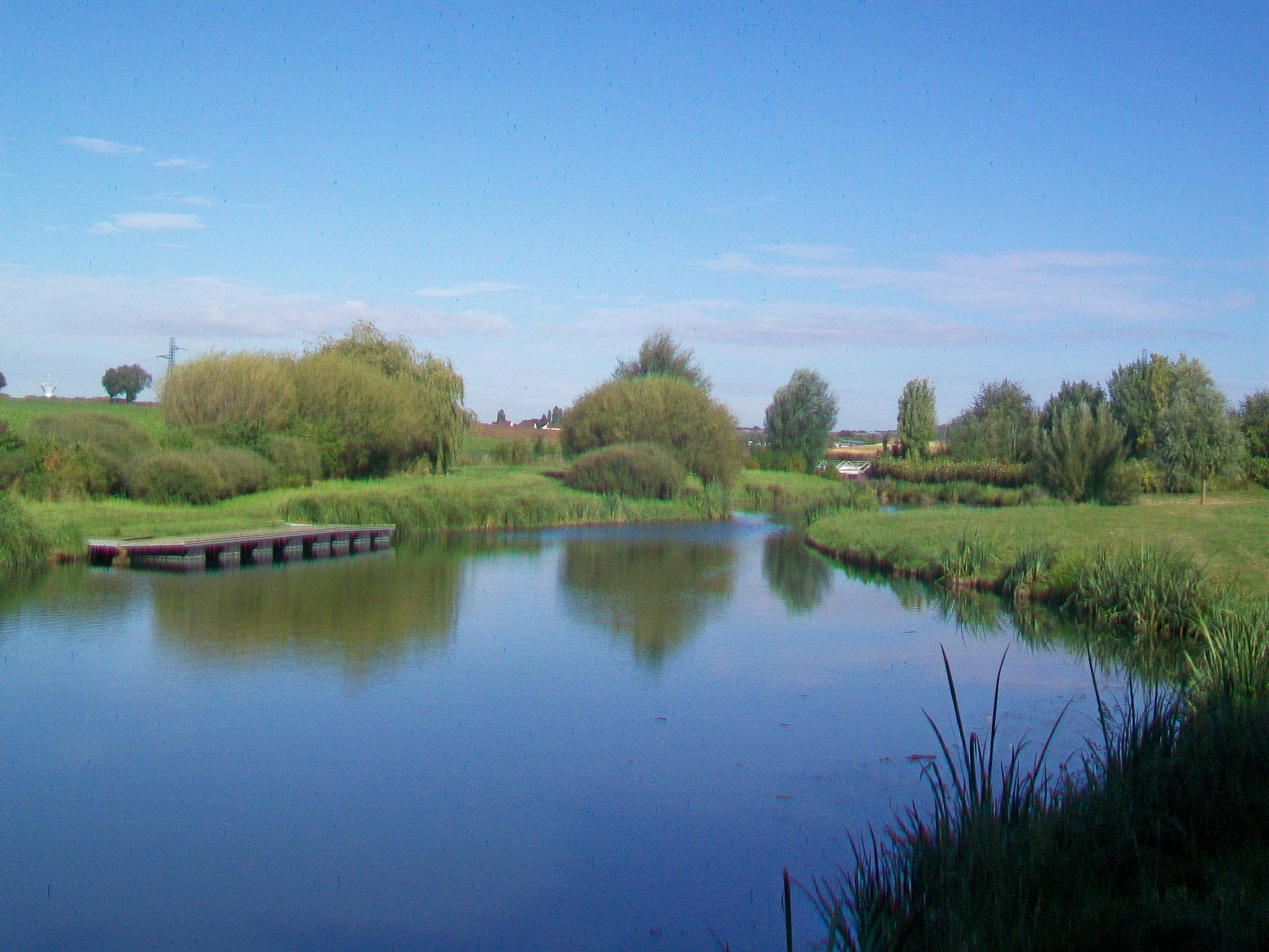 Description MoussyleVieux (77), étangs sur la Biberonne (ruisseau  ~ Sur Les Bois Annecy Le Vieux