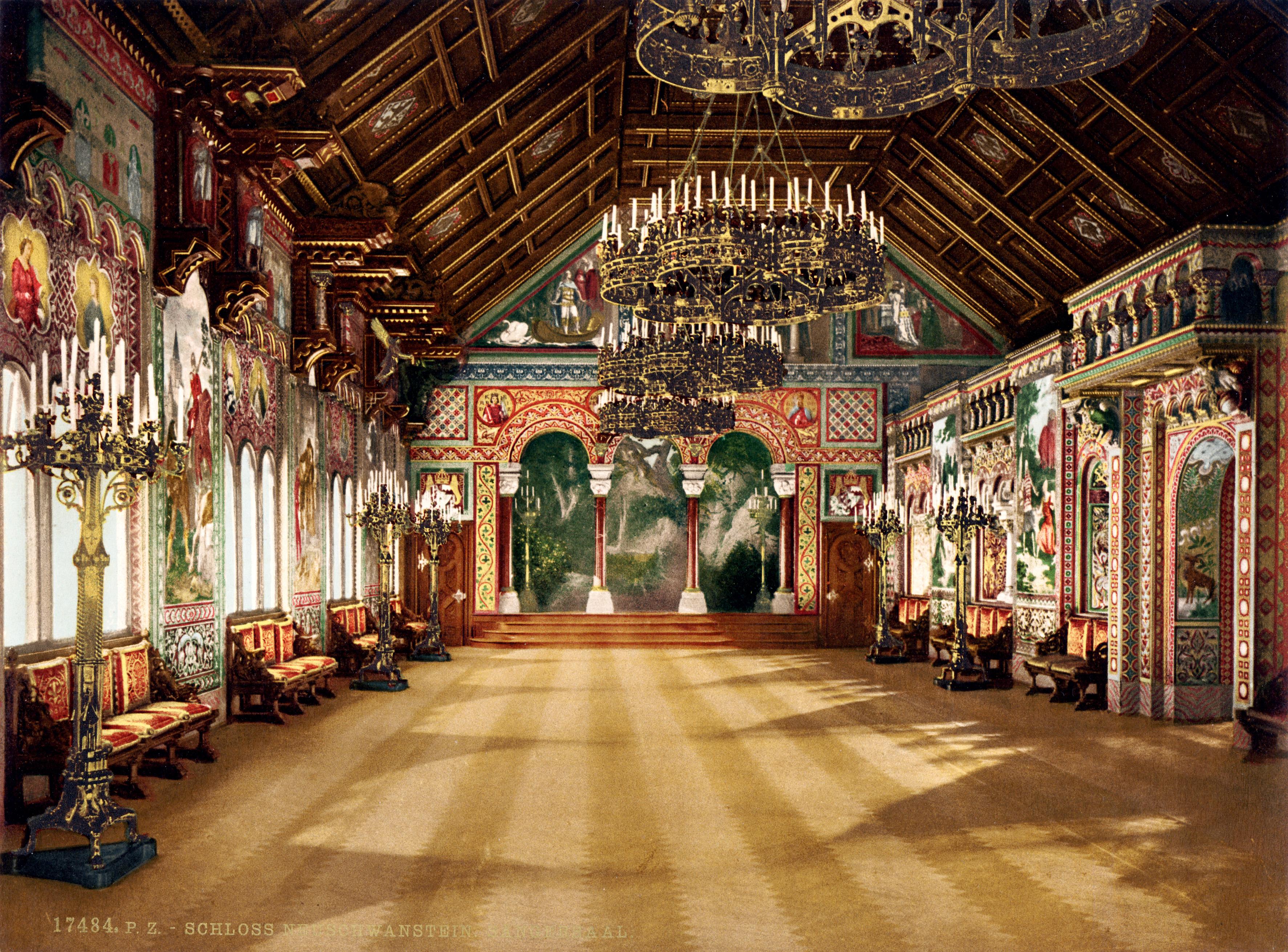 Los grandes castiilos de Europa Neuschwanstein_singer's_hall_00185u