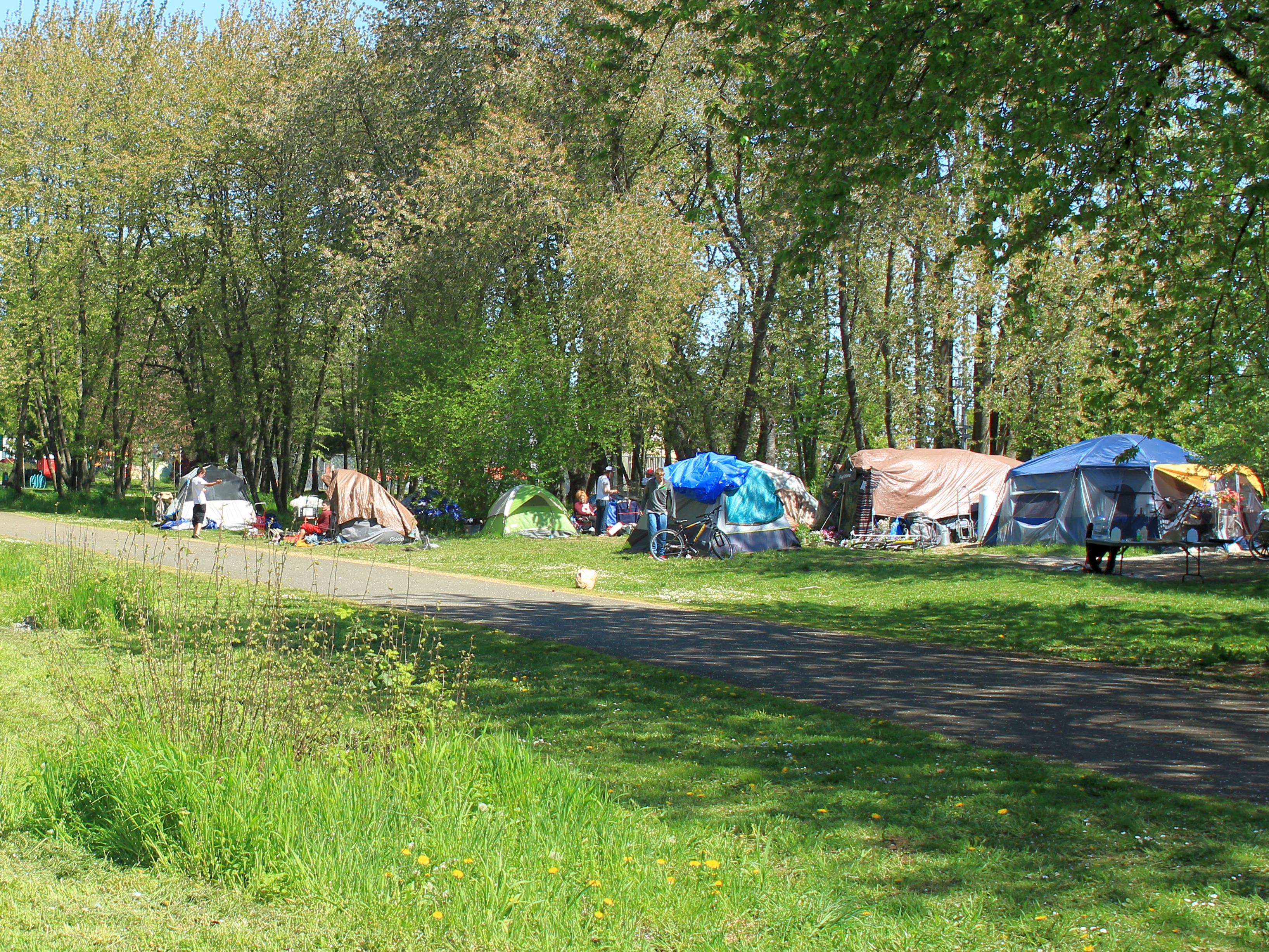 File:North Portland homeless tent camp.jpg